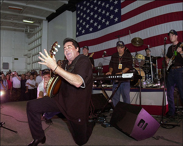 Wayne Newton Entertains Troops Patriotic Photo Print for Sale