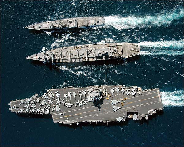 USS Enterprise w/ Detroit & Gettysburg Photo Print for Sale