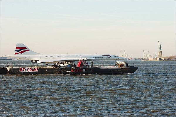 British Airways Concorde Statue of Liberty Photo Print for Sale