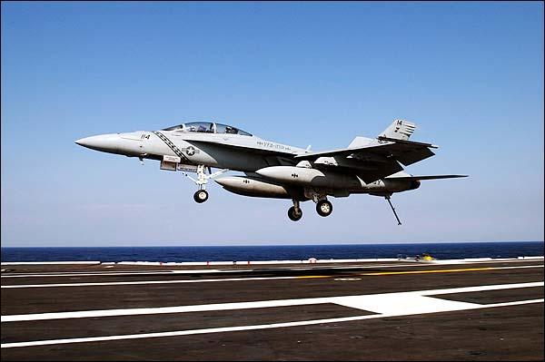 F-18 Super Hornet 'Diamondbacks' Landing Photo Print for Sale