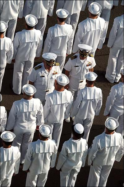 U.S. Navy Sailors Dress White Inspection Photo Print for Sale