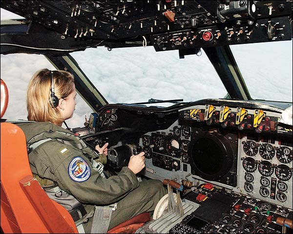 Navy P-3 / P3-C Orion Cockpit and Pilot Photo Print for Sale