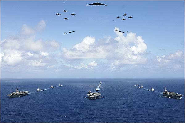 U.S. Navy Aircraft Carriers in Exercise Valiant Shield Photo Print for Sale