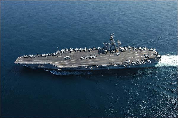 USS Dwight D. Eisenhower (CVN 69) in Arabian Sea Photo Print for Sale