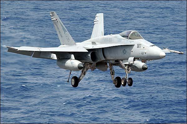 F/A-18C Hornet Landing Photo Print for Sale