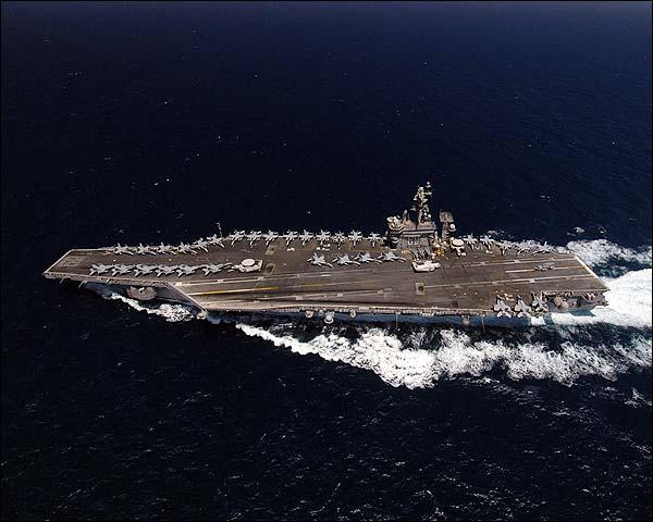 USS Dwight D. Eisenhower (CVN 69) in Mediterranean Sea Photo Print for Sale
