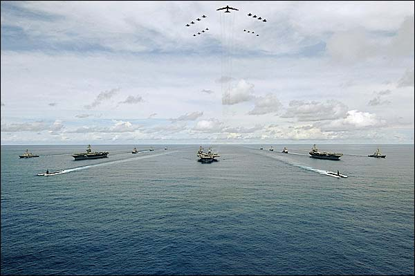 Exercise Valiant Shield w/ Aircraft Carrier Strike Groups Photo Print for Sale