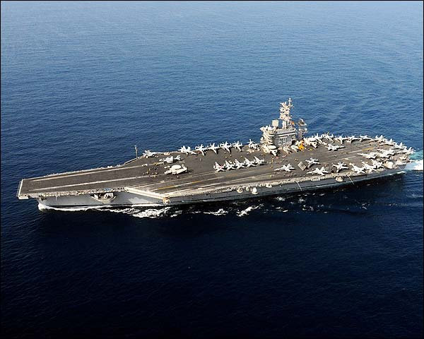 USS Dwight D. Eisenhower (CVN 69) in the Arabian Sea Photo Print for Sale