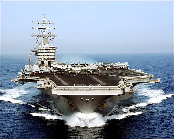 USS Dwight D. Eisenhower in Arabian Sea Photo Print for Sale