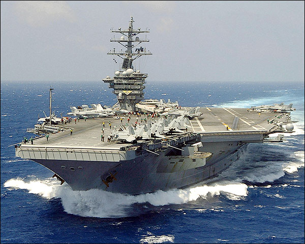 USS Dwight D. Eisenhower with Carrier Air Wing Seven Photo Print for Sale