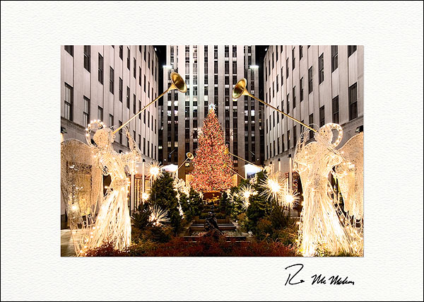 Personalized Rockefeller Center Angels Christmas Tree