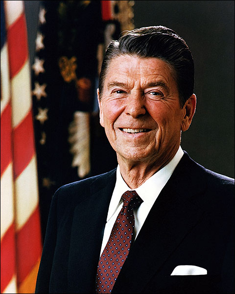 President Ronald Reagan Portrait Photo Print for Sale