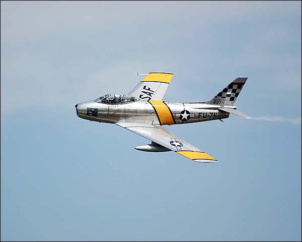 F-86 Sabre Korean War Era Jet Fighter Photo Print for Sale