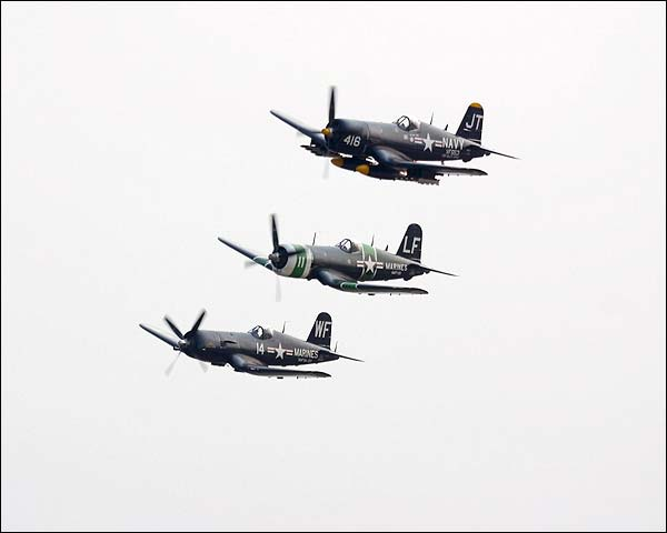 Vought F4U Corsair WWII Aircraft Formation Photo Print for Sale