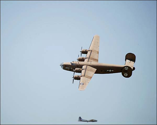 B-24 Liberator WWII Bomber Fly-By Photo Print for Sale