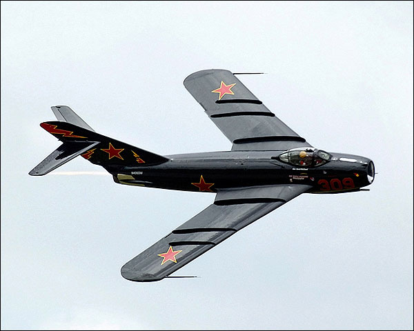 Russian MiG-17 Fighter Jet in Flight Photo Print for Sale
