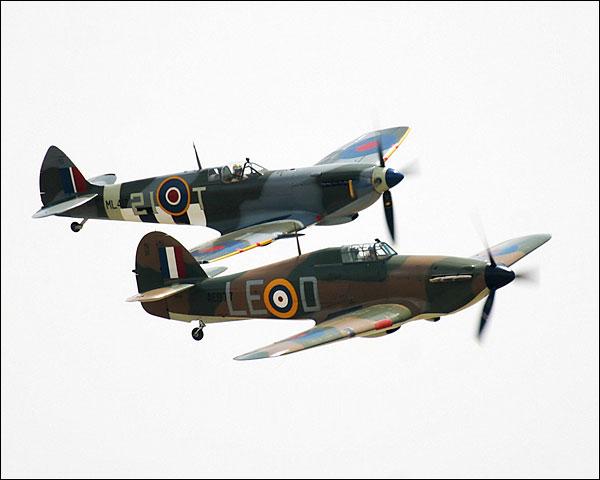 British WWII Spitfire & Hawker Hurricane Photo Print for Sale