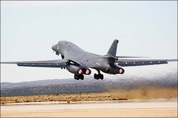 B-1 / B-1B Bomber Afterburner Take-off Photo Print for Sale