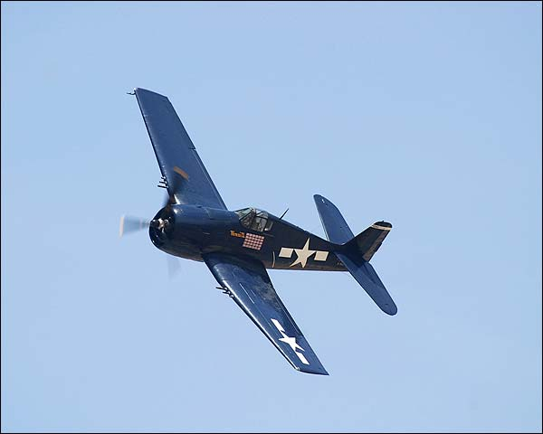 F6F Hellcat WWII Fighter Banking Photo Print for Sale
