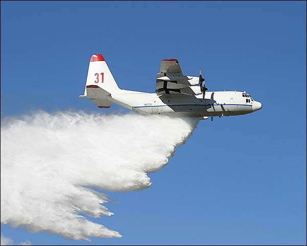 C-130 Hercules Firefighter Water Drop Photo Print for Sale