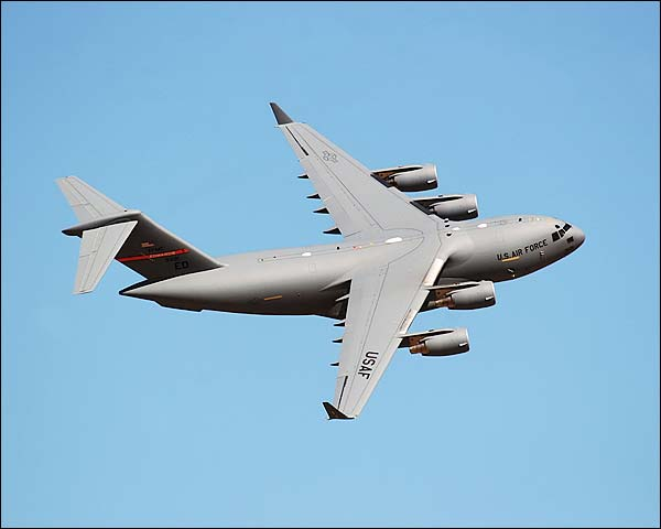 C-17 Globemaster Aircraft Banking Photo Print for Sale