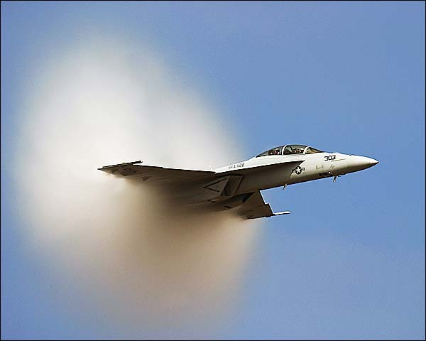 F-18 Hornet with Vapor Cone Photo Print for Sale