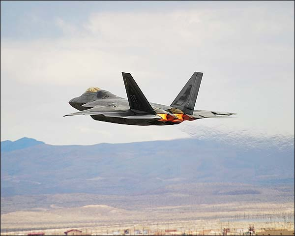 F-22 Raptor with Afterburner Photo Print for Sale