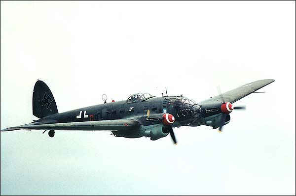 German WWII Heinkel He-111 Bomber Aircraft Photo Print for Sale