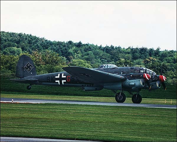 German WWII Heinkel He-111 Bomber Take-off Photo Print for Sale