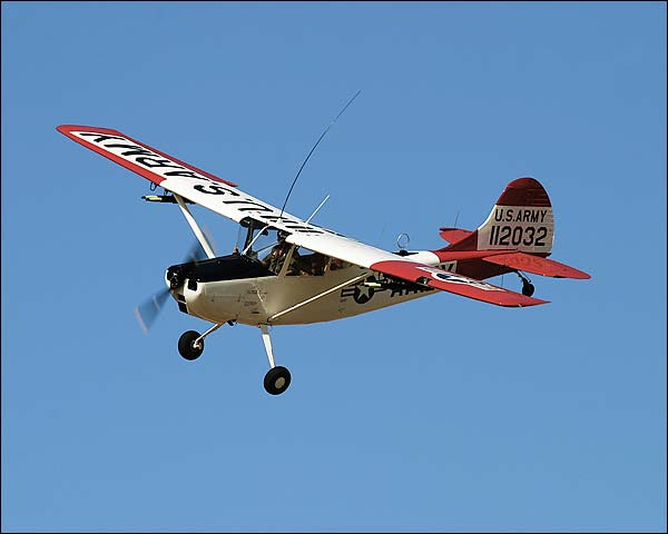 Cessna O-1 / O1 Bird Dog in Flight Photo Print for Sale