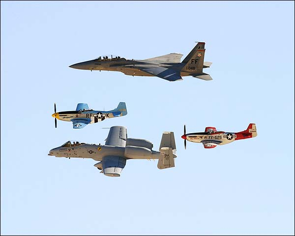 P-51 Mustang F-15 Eagle & A-10 Thunderbolt Photo Print for Sale
