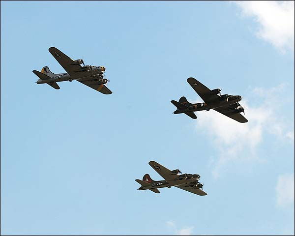 B-17 Flying Fortress WWII Bomber Trio Photo Print for Sale