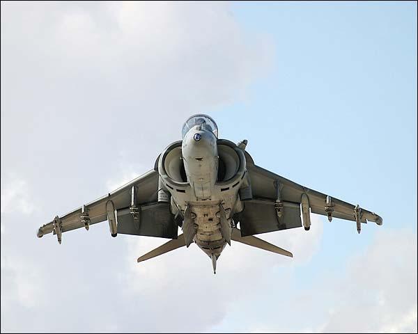 AV-8 Harrier Fighter Jet Hovering Photo Print for Sale