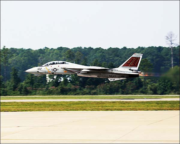 F-14 Tomcat Low Pass w/ Afterburners Photo Print for Sale