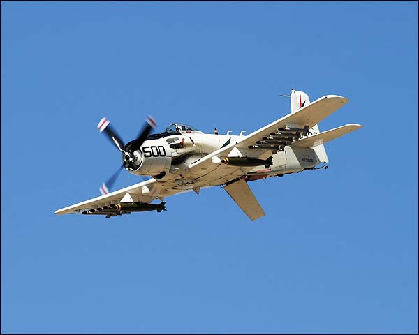 A-1 Skyraider w/ Speed Brake Photo Print for Sale