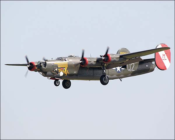 B-24 Liberator Bomber Witchcraft Landing Photo Print for Sale