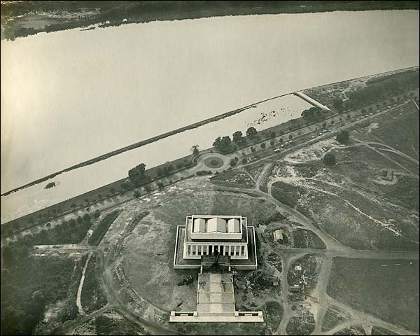 Washington D.C. Lincoln Memorial Aerial View  Photo Print for Sale