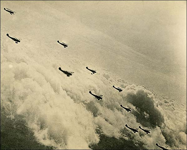 Curtiss JN-4 'Jenny' Biplane Formation WWI  Photo Print for Sale