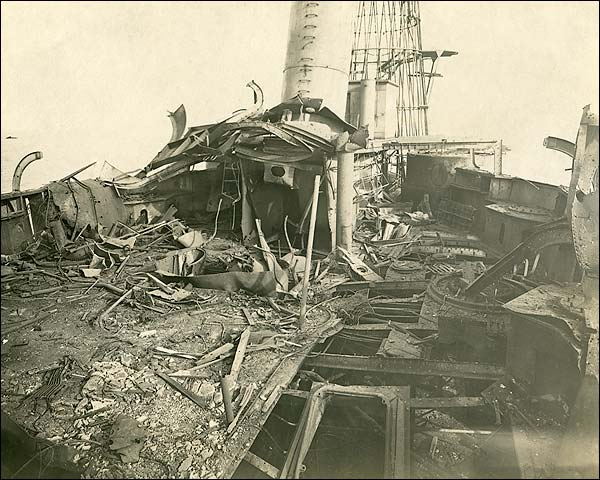 Ship Bombing Aftermath World War 1 Photo Print for Sale