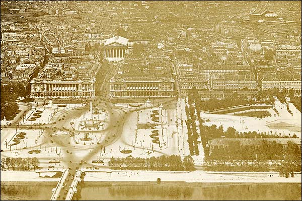 La Madeleine and Place de la Concorde in Paris 1915 Photo Print for Sale