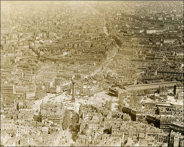 July Column and Place de la Bastille in Paris 1915 Photo Print for Sale