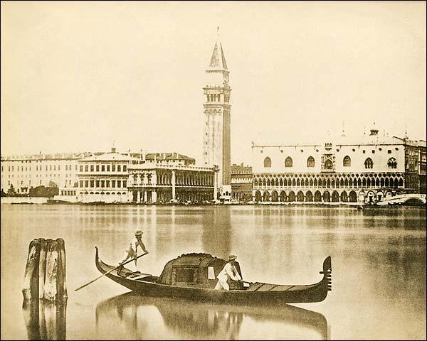 Gondola on the Seine River in Paris 1914 Photo Print for Sale