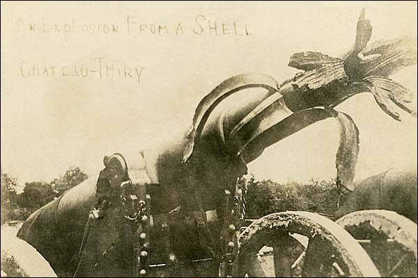 WWI Cannon at Battle of Château-Thierry 1918 Photo Print for Sale