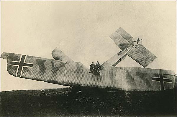 German Biplane Crash WWI  Photo Print for Sale