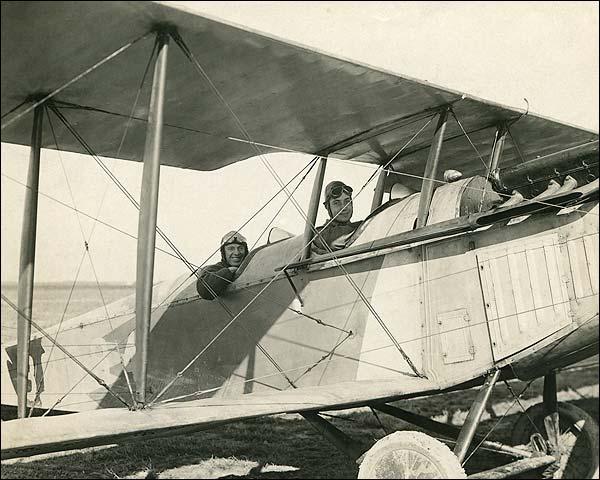 WWI Biplane Crew Photo Print for Sale