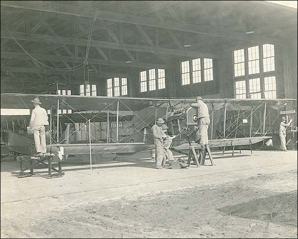 Kelly Field in San Antonio Airplane Mechanics WWI Photo Print for Sale