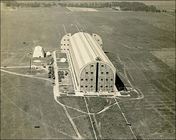 WWI Unidentified Airship Hangar 1918 Photo Print for Sale