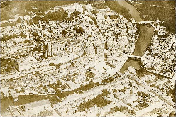 Verdun France Aerial View WWI Photo Print for Sale