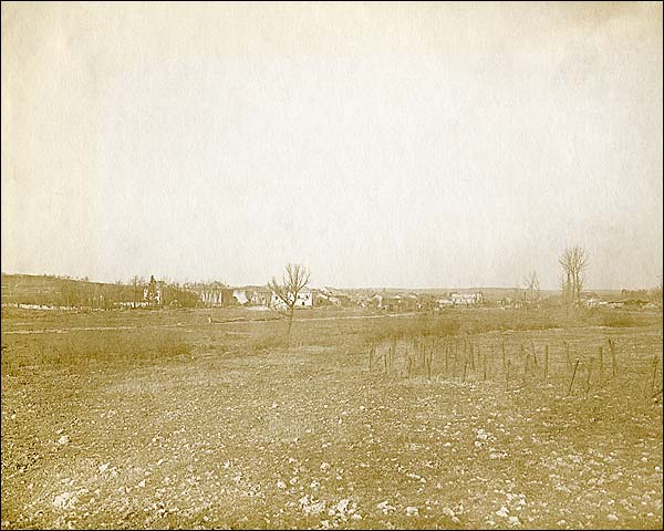 Village of Romagne-sous-Montfaucon, France WWI Photo Print for Sale