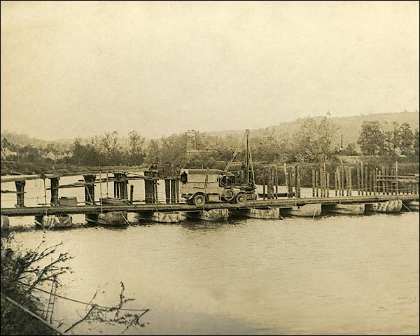 Pontoon Bridge at Château-Thierry in France WWI Photo Print for Sale